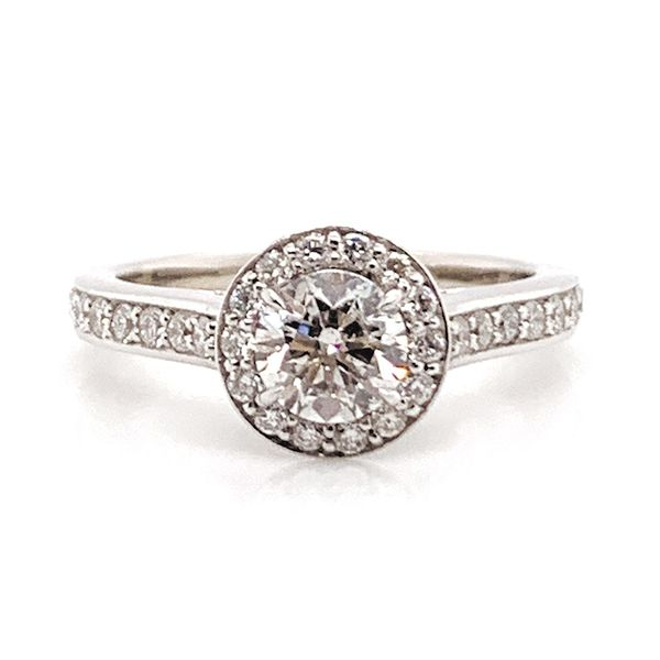 Pre-Owned Framed Halo Diamond Engagement Ring in White Gold (1.00ctw) Bremer Jewelry Peoria, IL