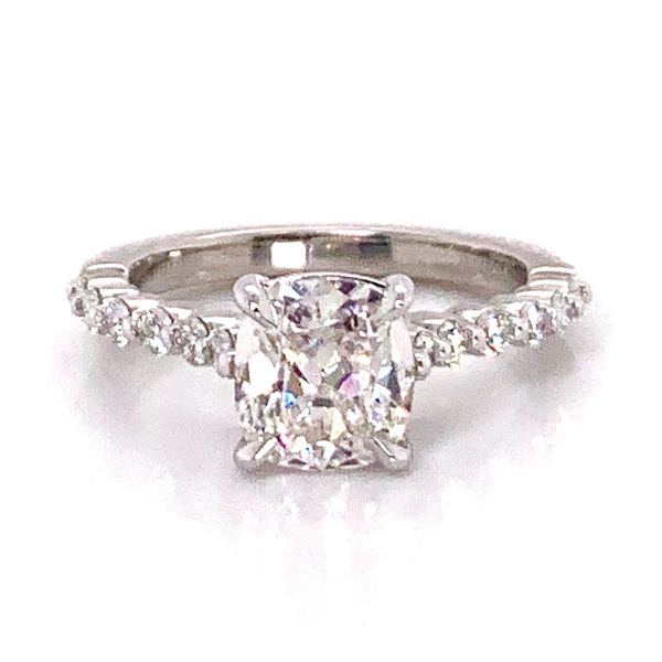 Henri Daussi Diamond Engagement Ring in Platinum (2.05 ctw) Bremer Jewelry Peoria, IL