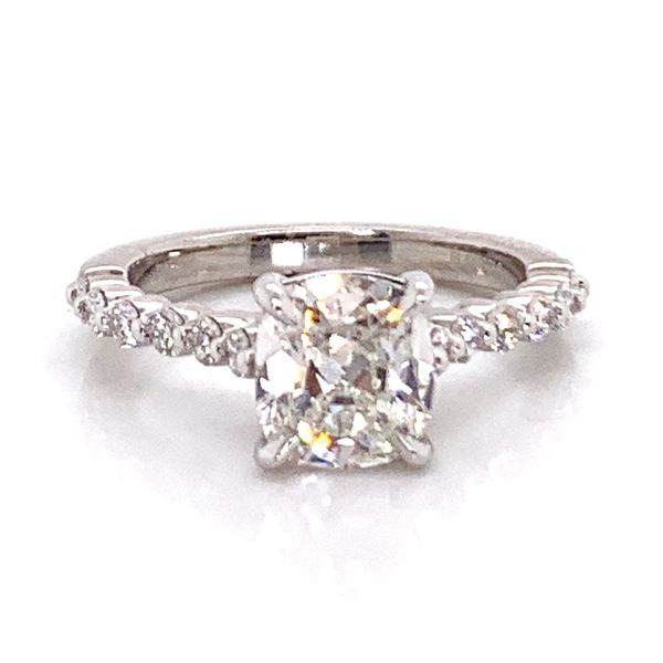 Henri Daussi Diamond Engagement Ring in Platinum (2.05 ctw) Image 2 Bremer Jewelry Peoria, IL
