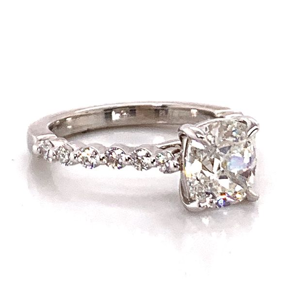 Henri Daussi Diamond Engagement Ring in Platinum (2.05 ctw) Image 4 Bremer Jewelry Peoria, IL
