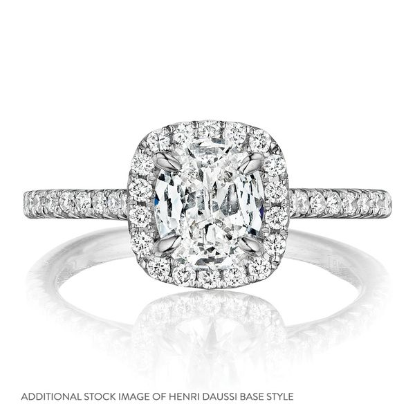Henri Daussi Diamond Engagement Ring (0.97 ctw) Image 4 Bremer Jewelry Peoria, IL