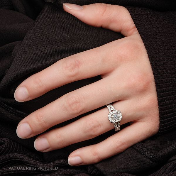 Henri Daussi Diamond Engagement Ring (1.39 ctw) Image 3 Bremer Jewelry Peoria, IL