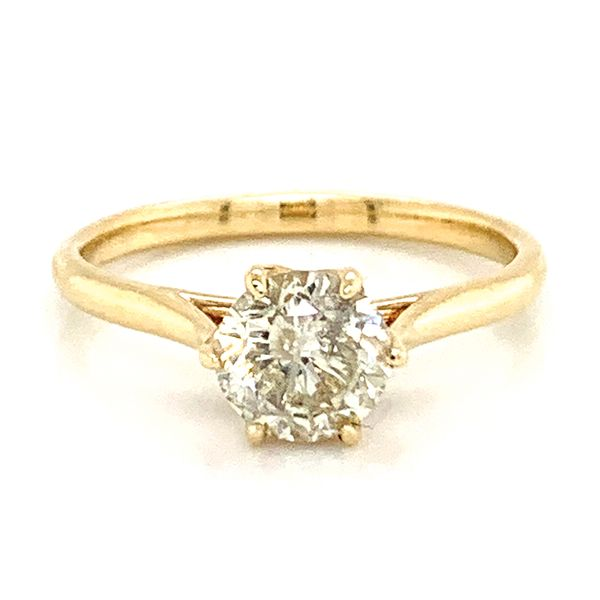 Six-Prong Solitaire Diamond Engagement Ring in Yellow Gold (1.13ctw) Bremer Jewelry Peoria, IL