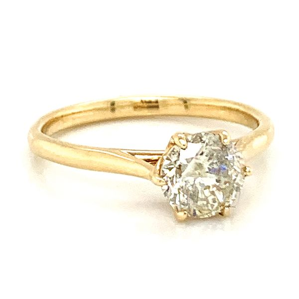 Six-Prong Solitaire Diamond Engagement Ring in Yellow Gold (1.13ctw) Image 2 Bremer Jewelry Peoria, IL