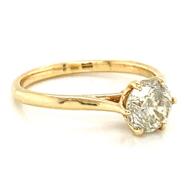 Six-Prong Solitaire Diamond Engagement Ring in Yellow Gold (1.13ctw) Image 3 Bremer Jewelry Peoria, IL