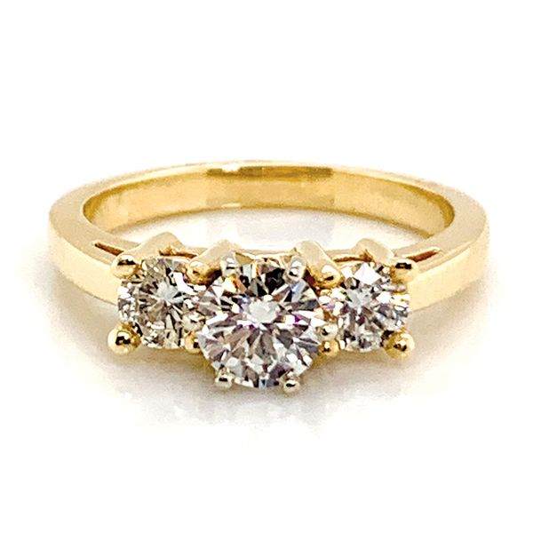 Pre-Owned Three-Stone Diamond Ring in Yellow Gold (1.11 ctw) Bremer Jewelry Peoria, IL