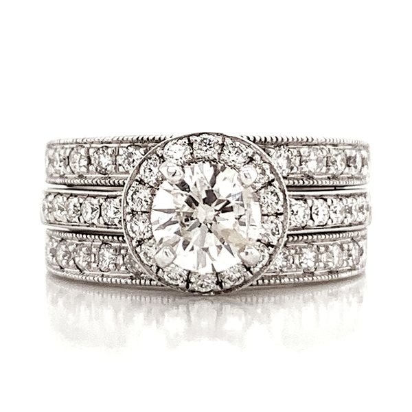 Pre-Owned Diamond Wedding Set in White Gold (1.75 ctw) Bremer Jewelry Peoria, IL