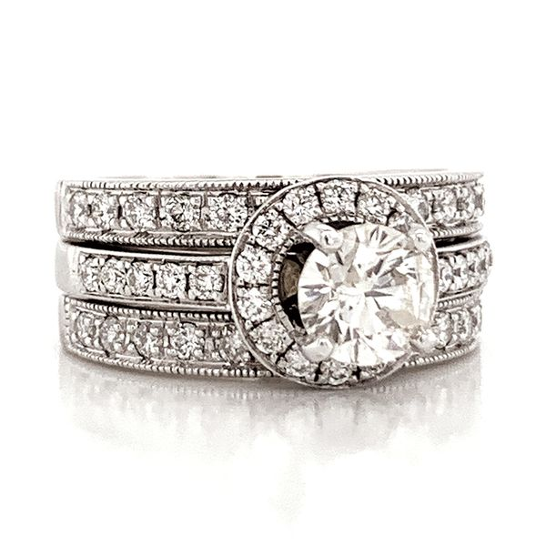 Pre-Owned Diamond Wedding Set in White Gold (1.75 ctw) Image 2 Bremer Jewelry Peoria, IL
