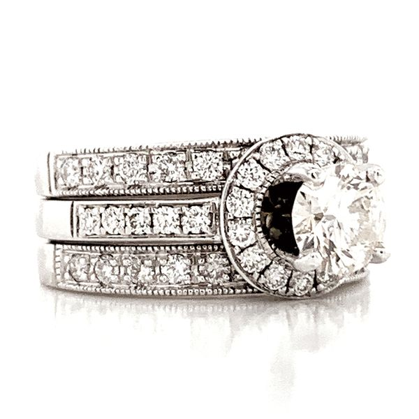 Pre-Owned Diamond Wedding Set in White Gold (1.75 ctw) Image 3 Bremer Jewelry Peoria, IL