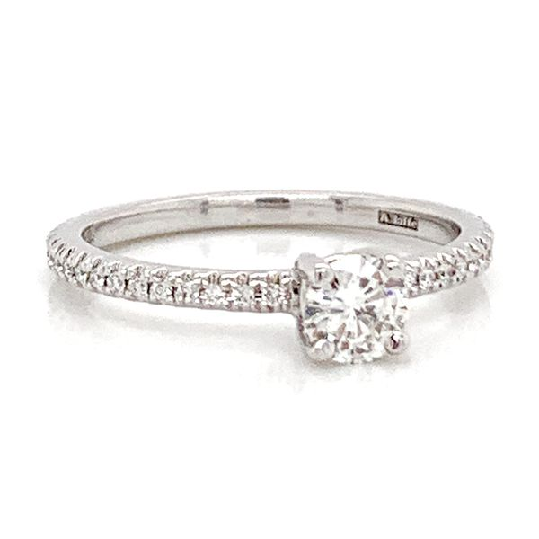 Simply Elegant Diamond Engagement Ring in White Gold (0.45 ctw) Image 2 Bremer Jewelry Peoria, IL