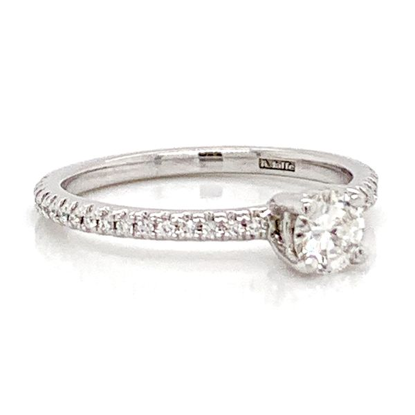 Simply Elegant Diamond Engagement Ring in White Gold (0.45 ctw) Image 3 Bremer Jewelry Peoria, IL
