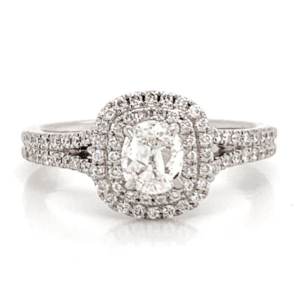 Henri Daussi Engagement Ring in White Gold (0.87ctw) Bremer Jewelry Peoria, IL