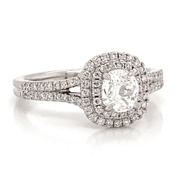 Henri Daussi Engagement Ring in White Gold (0.87ctw) Image 2 Bremer Jewelry Peoria, IL
