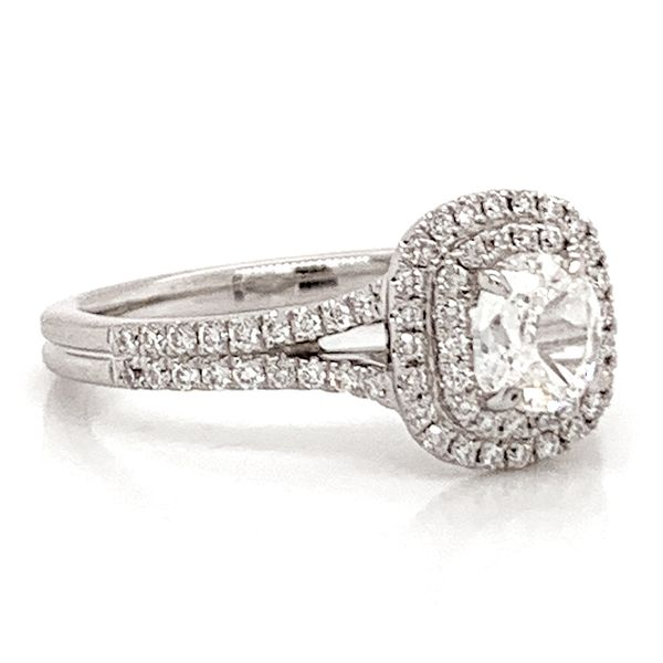 Henri Daussi Engagement Ring in White Gold (0.87ctw) Image 3 Bremer Jewelry Peoria, IL