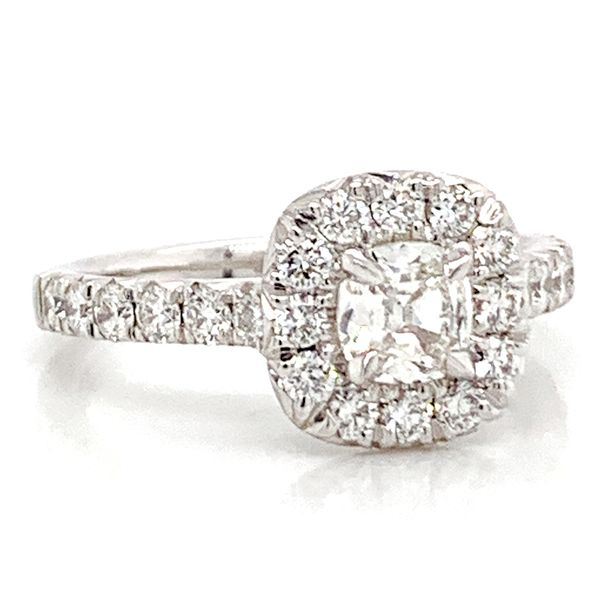 Henri Daussi Diamond Engagement Ring (1.24ctw) Image 2 Bremer Jewelry Peoria, IL