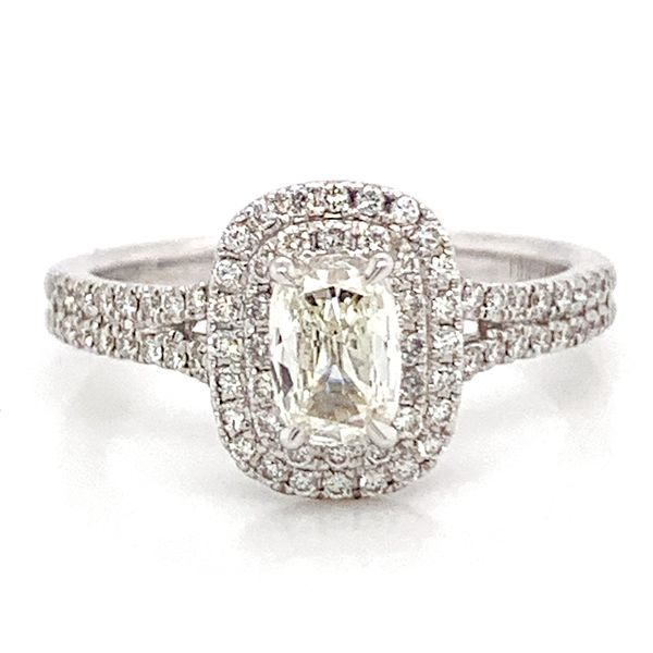 Henri Daussi Engagement Ring in White Gold (0.83 ctw) Bremer Jewelry Peoria, IL