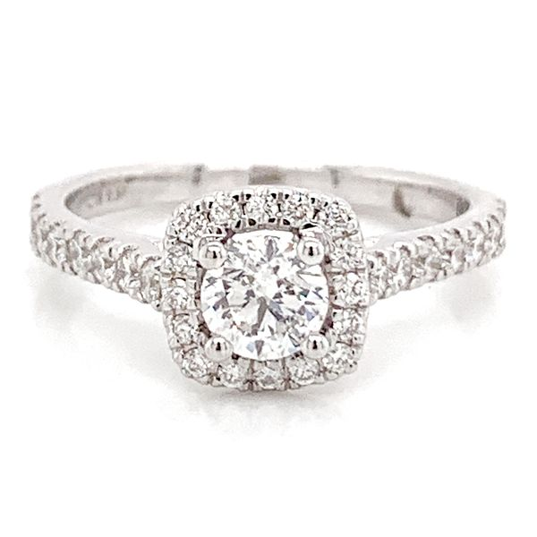 Round Diamond Engagement Ring in White Gold (0.80 ctw) Bremer Jewelry Peoria, IL
