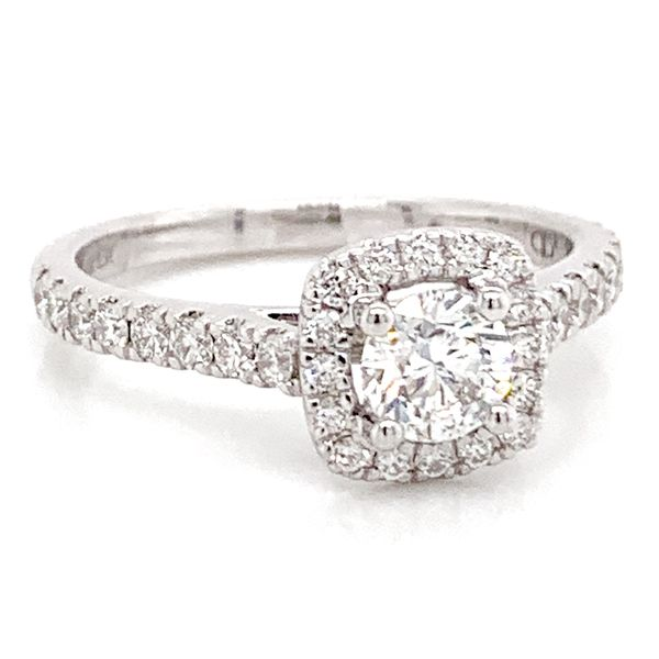 Round Diamond Engagement Ring in White Gold (0.80 ctw) Image 2 Bremer Jewelry Peoria, IL