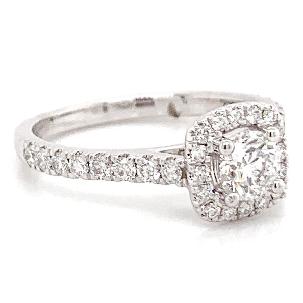 Round Diamond Engagement Ring in White Gold (0.80 ctw) Image 3 Bremer Jewelry Peoria, IL