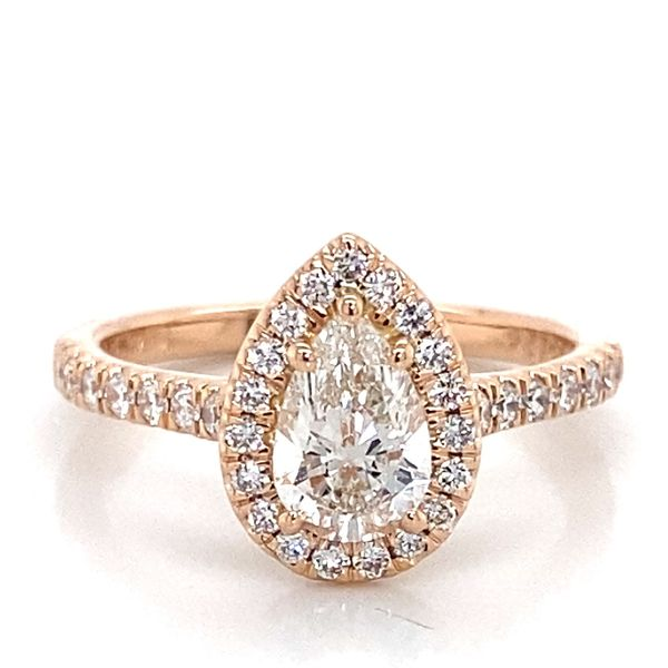 Pear Diamond Engagement Ring in Rose Gold (1.11 ctw) Bremer Jewelry Peoria, IL