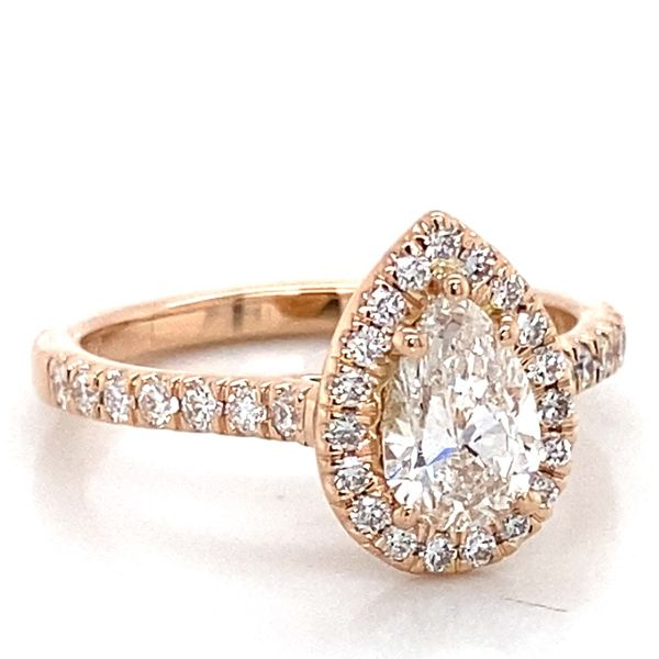 Pear Diamond Engagement Ring in Rose Gold (1.11 ctw) Image 2 Bremer Jewelry Peoria, IL