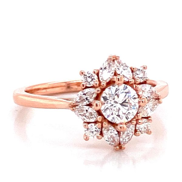 Round Diamond Engagement Ring in Rose Gold (0.97 ctw) Image 2 Bremer Jewelry Peoria, IL