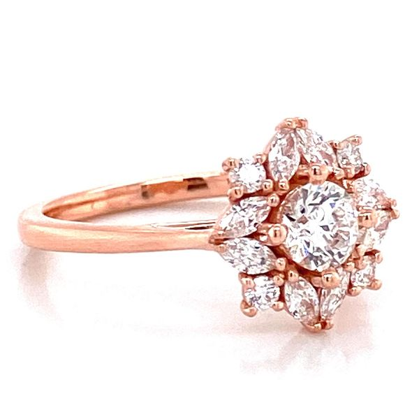 Round Diamond Engagement Ring in Rose Gold (0.97 ctw) Image 3 Bremer Jewelry Peoria, IL