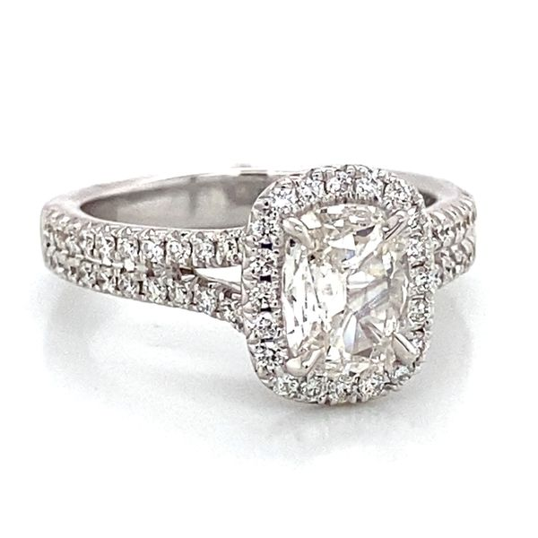 Henri Daussi Engagement Ring in White Gold (1.38 ctw) Image 2 Bremer Jewelry Peoria, IL