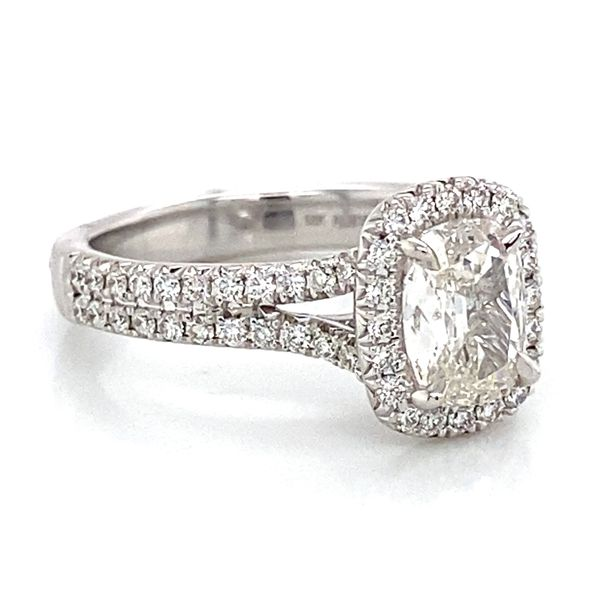 Henri Daussi Engagement Ring in White Gold (1.38 ctw) Image 3 Bremer Jewelry Peoria, IL