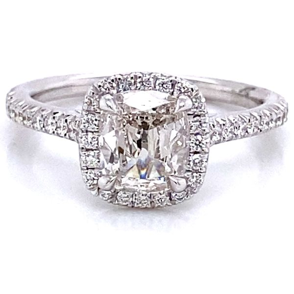 Henri Daussi Diamond Engagement Ring in White Gold (1.19 ctw) Bremer Jewelry Peoria, IL