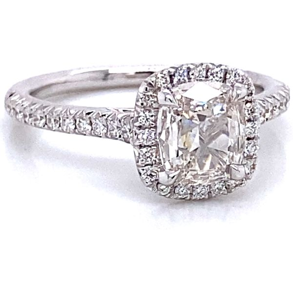 Henri Daussi Diamond Engagement Ring in White Gold (1.19 ctw) Image 2 Bremer Jewelry Peoria, IL