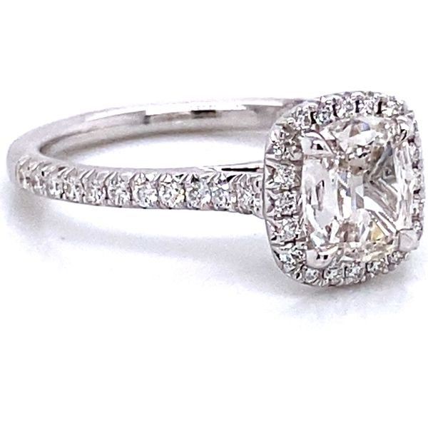 Henri Daussi Diamond Engagement Ring in White Gold (1.19 ctw) Image 3 Bremer Jewelry Peoria, IL
