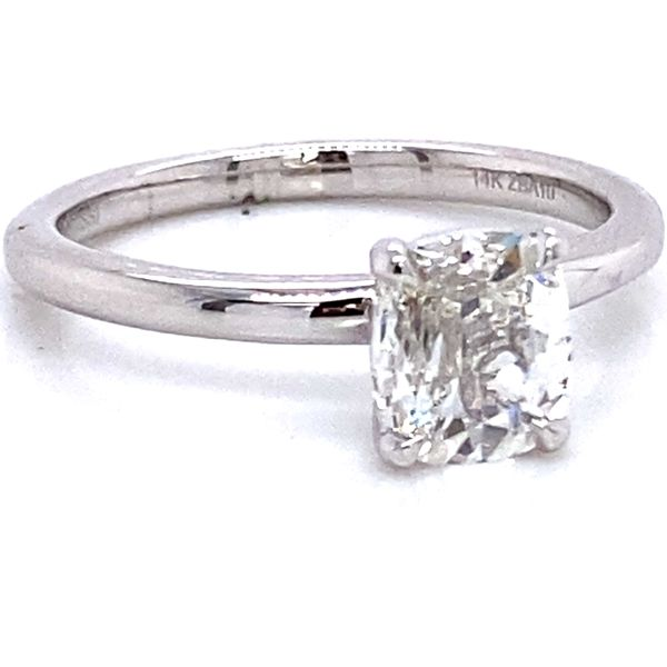 Henri Daussi Diamond Engagement Ring in White Gold (0.70 ctw) Image 2 Bremer Jewelry Peoria, IL