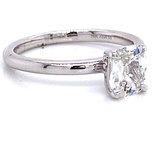 Henri Daussi Diamond Engagement Ring in White Gold (0.70 ctw) Image 3 Bremer Jewelry Peoria, IL