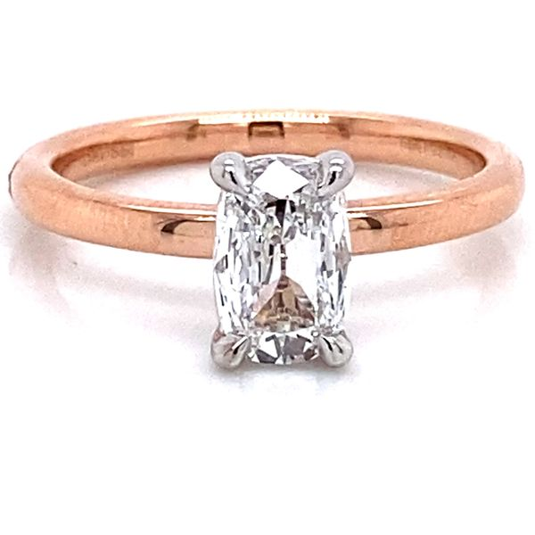Henri Daussi Diamond Engagement Ring in Rose Gold (0.78 ctw) Bremer Jewelry Peoria, IL