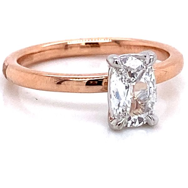 Henri Daussi Diamond Engagement Ring in Rose Gold (0.78 ctw) Image 2 Bremer Jewelry Peoria, IL