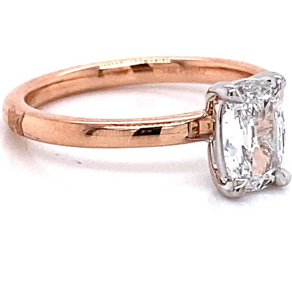 Henri Daussi Diamond Engagement Ring in Rose Gold (0.78 ctw) Image 3 Bremer Jewelry Peoria, IL