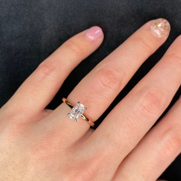 Henri Daussi Diamond Engagement Ring in Rose Gold (0.78 ctw) Image 4 Bremer Jewelry Peoria, IL
