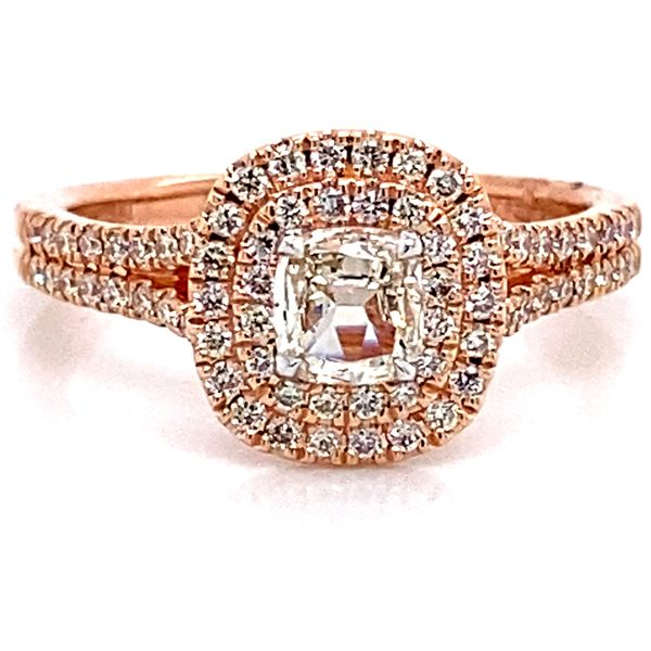 Henri Daussi Diamond Engagement Ring in Rose Gold (0.67 ctw) Bremer Jewelry Peoria, IL