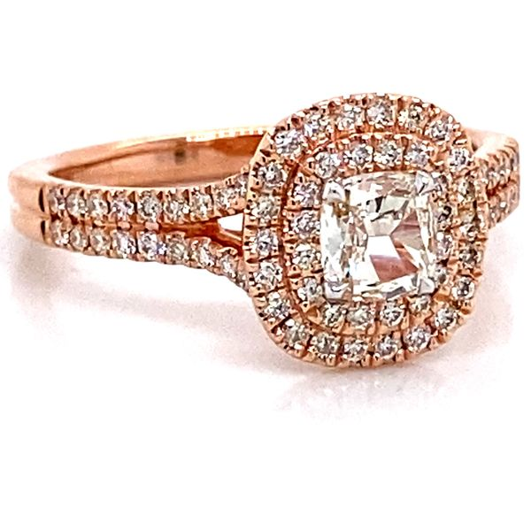 Henri Daussi Diamond Engagement Ring in Rose Gold (0.67 ctw) Image 2 Bremer Jewelry Peoria, IL