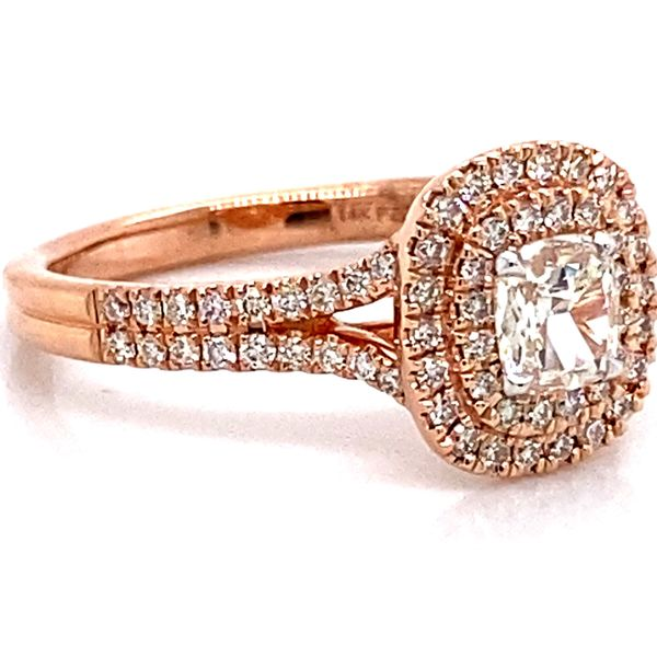 Henri Daussi Diamond Engagement Ring in Rose Gold (0.67 ctw) Image 3 Bremer Jewelry Peoria, IL