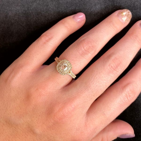 Henri Daussi Diamond Engagement Ring in Rose Gold (0.67 ctw) Image 4 Bremer Jewelry Peoria, IL