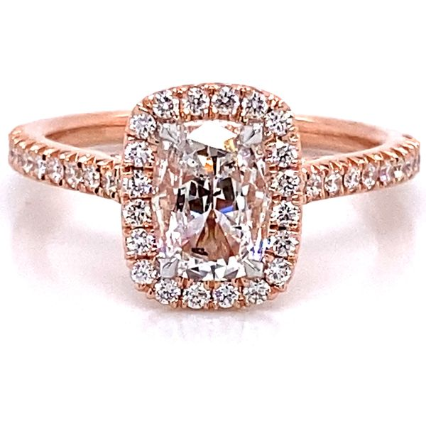 Henri Daussi Diamond Engagement Ring in Rose Gold (1.03 ctw) Bremer Jewelry Peoria, IL