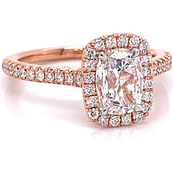 Henri Daussi Diamond Engagement Ring in Rose Gold (1.03 ctw) Image 2 Bremer Jewelry Peoria, IL