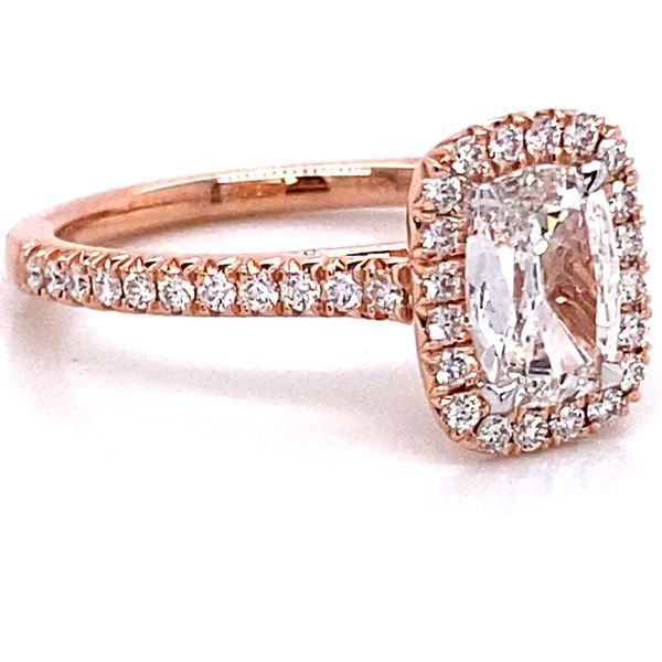 Henri Daussi Diamond Engagement Ring in Rose Gold (1.03 ctw) Image 3 Bremer Jewelry Peoria, IL