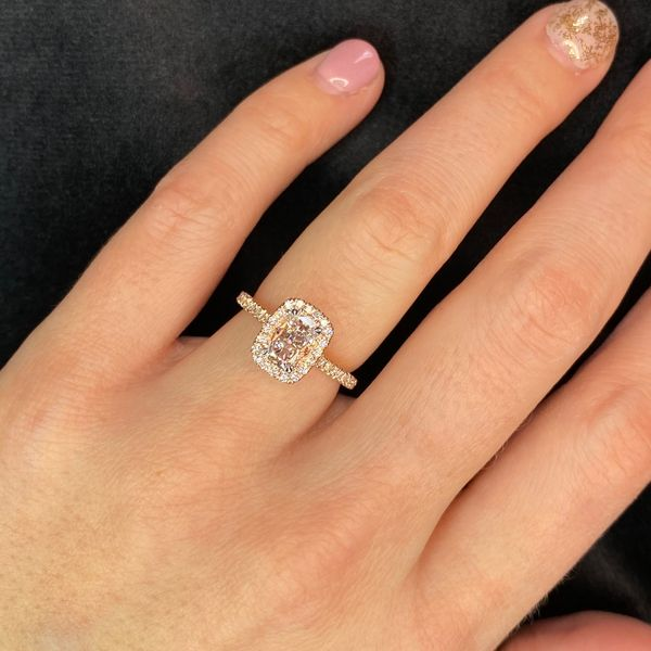 Henri Daussi Diamond Engagement Ring in Rose Gold (1.03 ctw) Image 4 Bremer Jewelry Peoria, IL