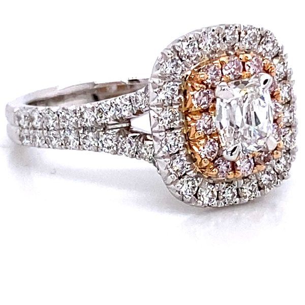 Henri Daussi Diamond Engagement Ring in White and Rose Gold (1.56 ctw) Image 3 Bremer Jewelry Peoria, IL