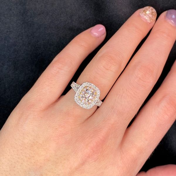 Henri Daussi Diamond Engagement Ring in White and Rose Gold (1.56 ctw) Image 4 Bremer Jewelry Peoria, IL