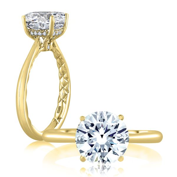 A. Jaffe Engagement Ring Setting in Yellow Gold Image 2 Bremer Jewelry Peoria, IL