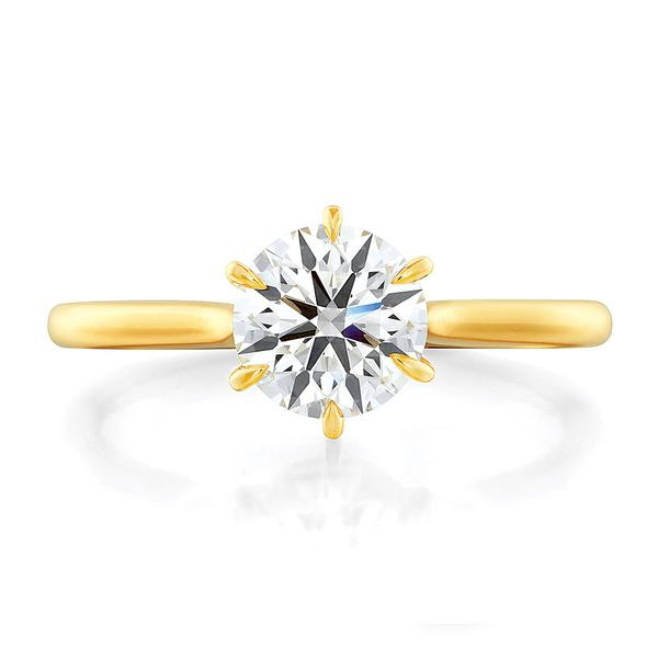 Hearts On Fire Camilla Yellow Gold Engagement Ring Setting Bremer Jewelry Peoria, IL
